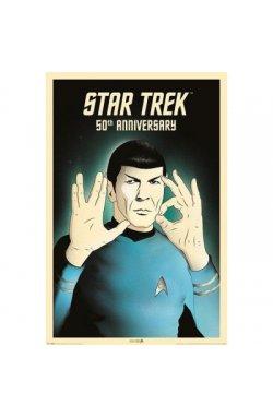 "Постер ""Star Trek (Spock 5-0) 50th Anniversary"" (Акция) 61 x 91,5 см - wws-7152"