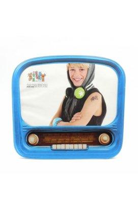 """Фоторамка """"Винтажное радио"""", стекло, голубая - wws-7524"""
