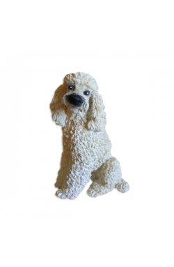 Статуэтка собачка пудель белый - wws-7768