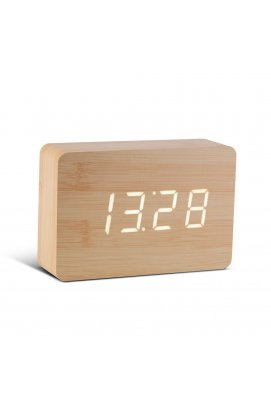 """Смарт-будильник с термометром """"BRICK"""", дерево береза - wws-8021"""