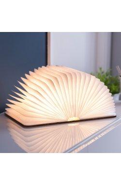 """Светильник-книга """"Smart Book"""" мини, натуральная кожа - wws-8046"""