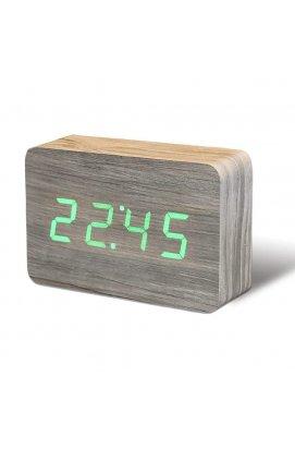 """Смарт-будильник с термометром """"BRICK"""", ясень - wws-8347"""