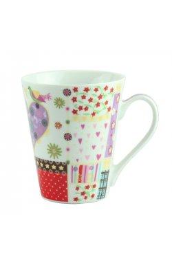 "Чашка ""FLOWER"" фарфор, фиолетовая - wws-8610"