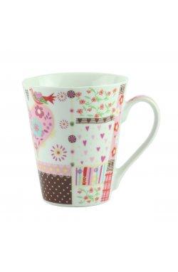 """Чашка """"FLOWER"""" фарфор, розовая - wws-8611"""