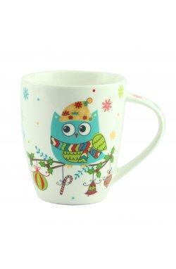 "Чашка ""Совушка"" голубая, фарфор, 10 см - wws-8612"