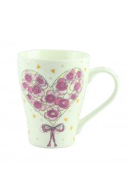 """Чашка """"Сердце с роз """" фарфор - wws-8617"""