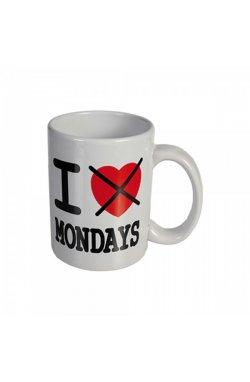 """Кружка """"Я не люблю понедельник"""" керамическая 8 см - wws-8630"""