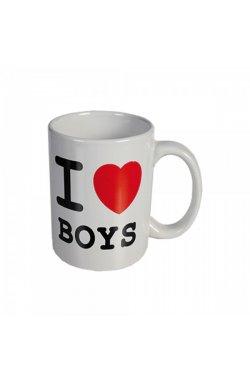 """Кружка """"I love boys"""" керамическая 8 см - wws-8631"""