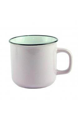 Чашка бежевая, керамика, 9 см - wws-8638