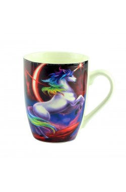 "Чашка ""Mug unicorn Desing"", темно-красная - wws-8641"