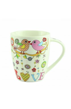 "Чашка ""Mug bird love Porcelain"", 10 см - wws-8648"