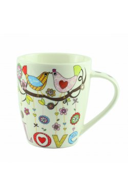 "Чашка ""Mug bird love Porcelain Love"", 10 см - wws-8649"