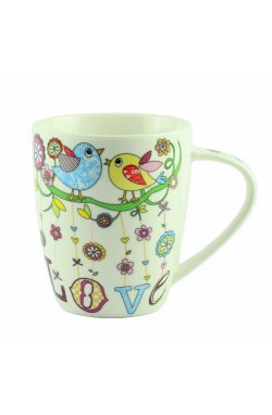 "Чашка ""Mug bird love Porcelain"", птички 10 см - wws-8650"