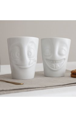 Набор Tassen Шутник и Лакомка из двух фарфоровых чашек ( 350 мл) - wws-8813