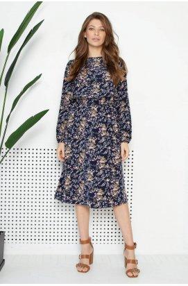 Платье 3100-c01 - Синий/Принт