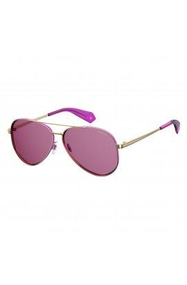 Солнцезащитные очки женские Polaroid PLD6069/S/X-S9E-0F - авиаторы, Цвет линз - розовый