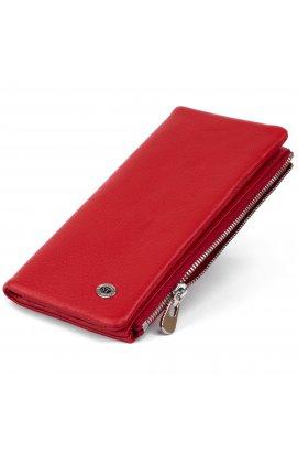 Вертикальный кошелек на кнопке женский ST Leather 19202 Красный