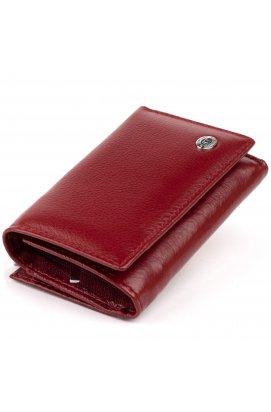 Горизонтальное портмоне из кожи женское на магните ST Leather 19333 Бордовое