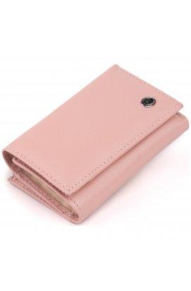 Горизонтальное портмоне из кожи женское на магните ST Leather 19334 Розовое