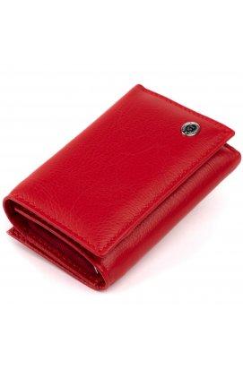 Горизонтальное портмоне из кожи женское на магните ST Leather 19335 Красное