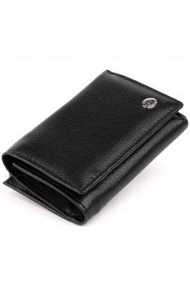 Горизонтальное портмоне из кожи унисекс на магните ST Leather 19331 Черное
