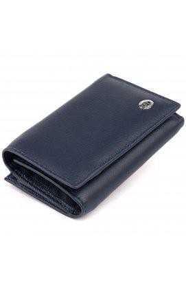 Горизонтальное портмоне из кожи унисекс на магните ST Leather 19336 Темно-синее