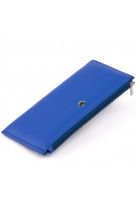 Горизонтальный тонкий кошелек из кожи унисекс ST Leather 19329 Синий