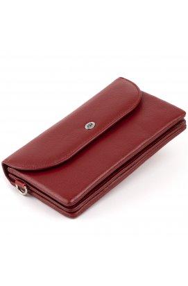 Клатч из кожи женский ST Leather 19318 Бордовый