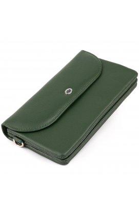 Клатч из кожи женский ST Leather 19320 Зеленый