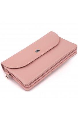 Клатч из кожи женский ST Leather 19323 Розовый