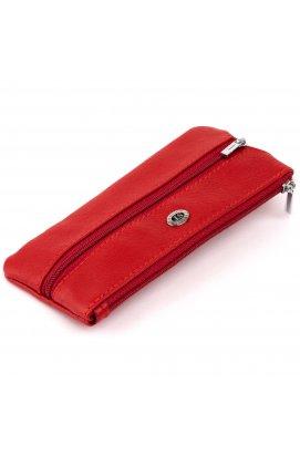 Ключница-кошелек с кармашком женская ST Leather 19347 Красная