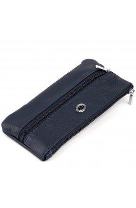 Ключница-кошелек с кармашком унисекс ST Leather 19349 Темно-синий