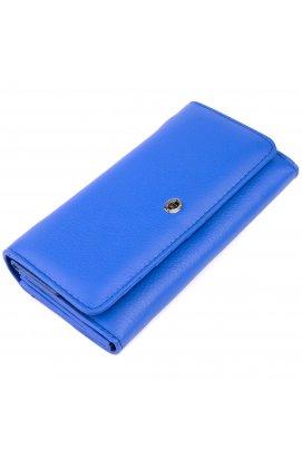 Кошелек кожаный в два сложения женский ST Leather 19285 Синий