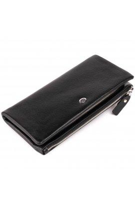 Кошелек-клатч из кожи с карманом для мобильного ST Leather 19310