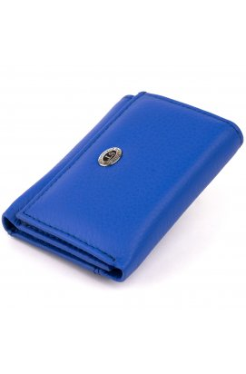 Маленькое портмоне из кожи унисекс ST Leather 19354 Синее