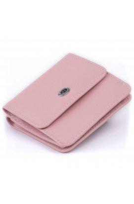 Маленький кошелек на кнопке женский ST Leather 19235 Розовый