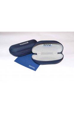 Солнцезащитные очки INVU V1900C - круглые, Цвет линз - синий