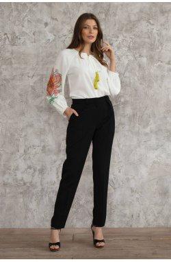 Блуза 3074-c01 - Молочный/Принт