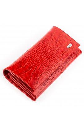 Кошелек женский CANPELLINI 17053 кожаный Красный