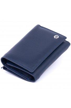 Кошелек горизонтальный с монетником на молнии унисекс ST Leather 19360 Синий