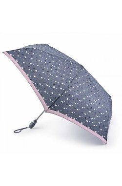 Зонт женский Fulton Open&Close Superslim-2 L711 Flower Power (Сердечки)