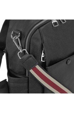 Женский стильный рюкзак Olivia Leather NWBP27-005A - натуральная кожа, черный