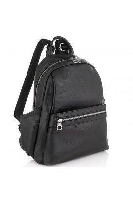 Женский черный кожаный рюкзак Olivia Leather NWBP27-007A - натуральная кожа, черный