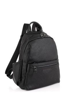 Женский кожаный рюкзак черный Olivia Leather NWBP27-009A - натуральная кожа, черный