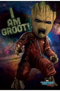 """Постер """"Guardians Of The Galaxy Vol. 2 (Angry Groot)"""" - wws-784"""