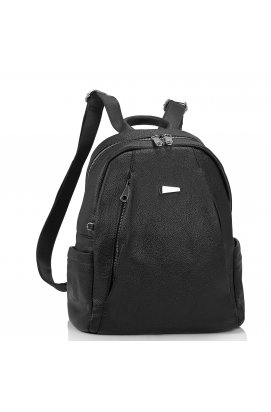 Женский черный рюкзак Olivia Leather NWBP27-008A - натуральная кожа, черный