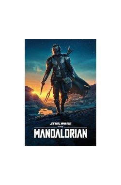 "Постер ""Star Wars: The Mandalorian (Nightfall)"" 61 х 91,5 см - wws-8905"
