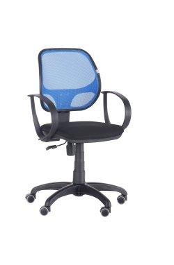 Кресло Бит/АМФ-8 сиденье Сетка черная/спинка Сетка синяя - AMF - 117004