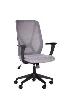Кресло Nickel Black сиденье Сидней-20/спинка Сетка SL-16 серая - AMF - 297131