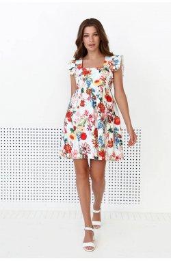 Сукня 3145-c02 - Молочный/принт